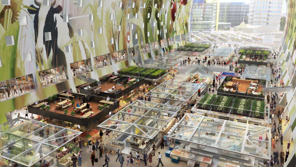 Maas Metropole Rotterdam Eroffnet Markthal Konzepte Online
