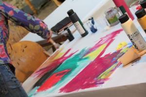 Kurs Malerei mit Heribert C. Ottersbach_5 @ Goldmann Public Relations