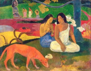 Bildlegende: Paul Gauguin, Arearea, 1892, Öl auf Leinwand, 75 x 94 cm, Musée d'Orsay, Paris, Legat von Monsieur und Madame Lung, 1961, Foto: © RMN-Grand Palais (Musée d'Orsay) / Hervé Lewandowski