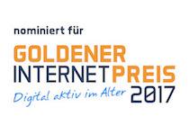 Unser XING-Gruppe wurde für den Goldenen Internetpreis nominiert. Wir sind in die Endrunde gekommen. Marita Maier von EAQC GmbH hat uns vorgeschlagen.
