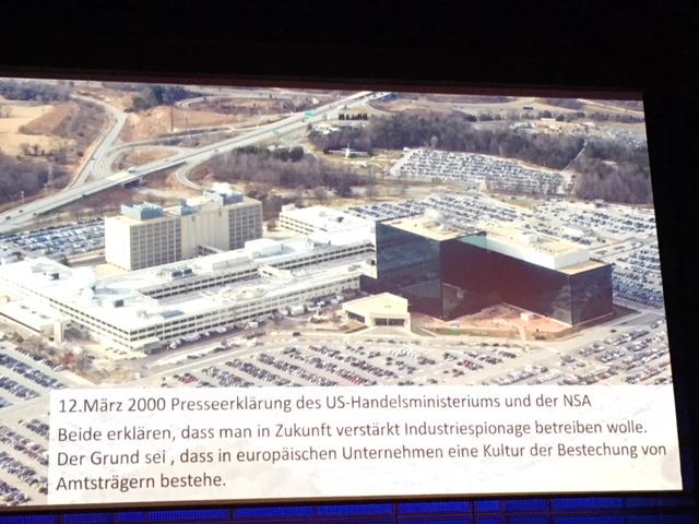 NSA gibt offen Wirtschaftsspionage zu