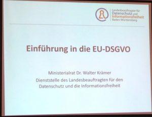 Chart - Einführung in die EU-DSGVO 19.04.18 in Freiburg