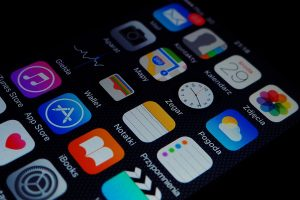 Bildschirm eines Smartphones