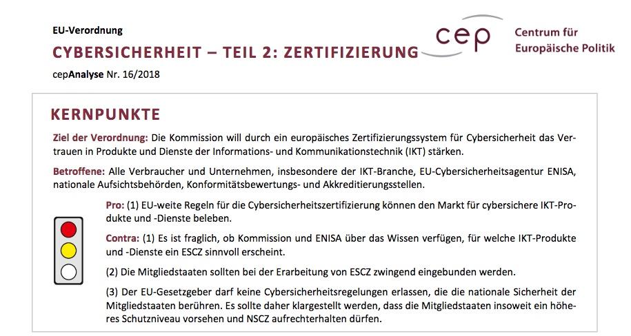 cepAnalyse Cybersicherheit