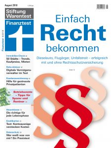 Cover Finanztest Heft 08/2018