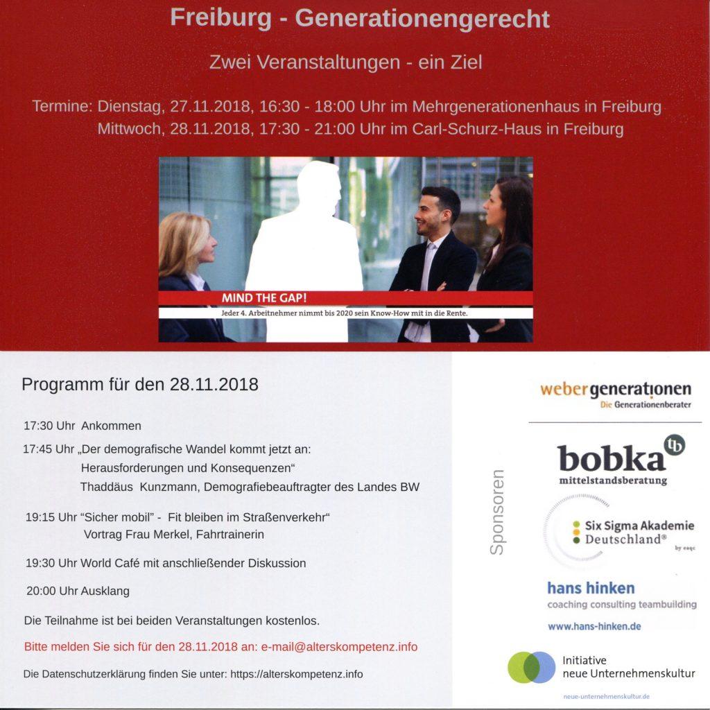 Veranstaltung: Freiburg - Generationengerecht
