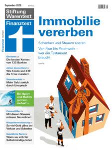 Titelbild der Zeitschrift Finanztest September 2020