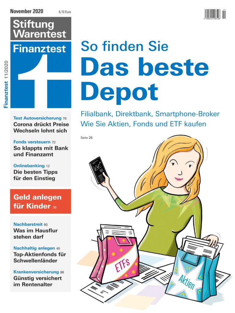 Cover der Finanz-Test-Ausgabe November 2020