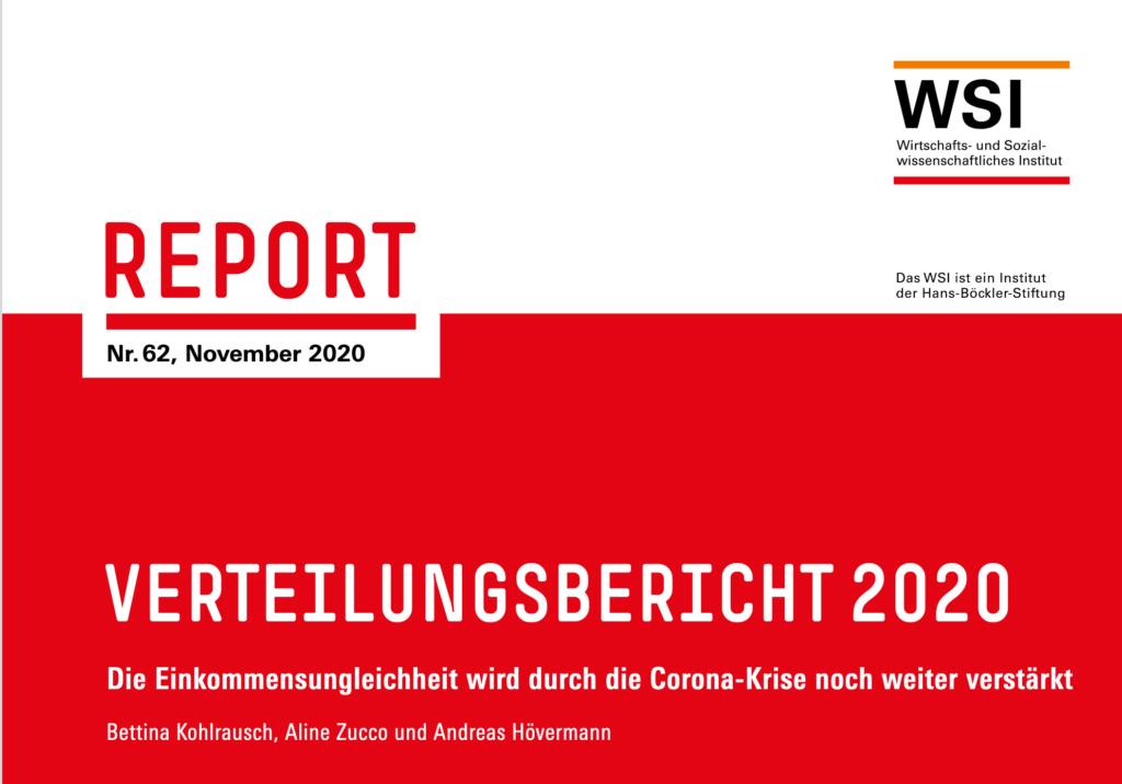 Screenshot des Titels Verteilungsbericht 2020