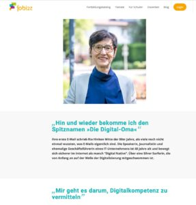 Screenshot der Website fobizz