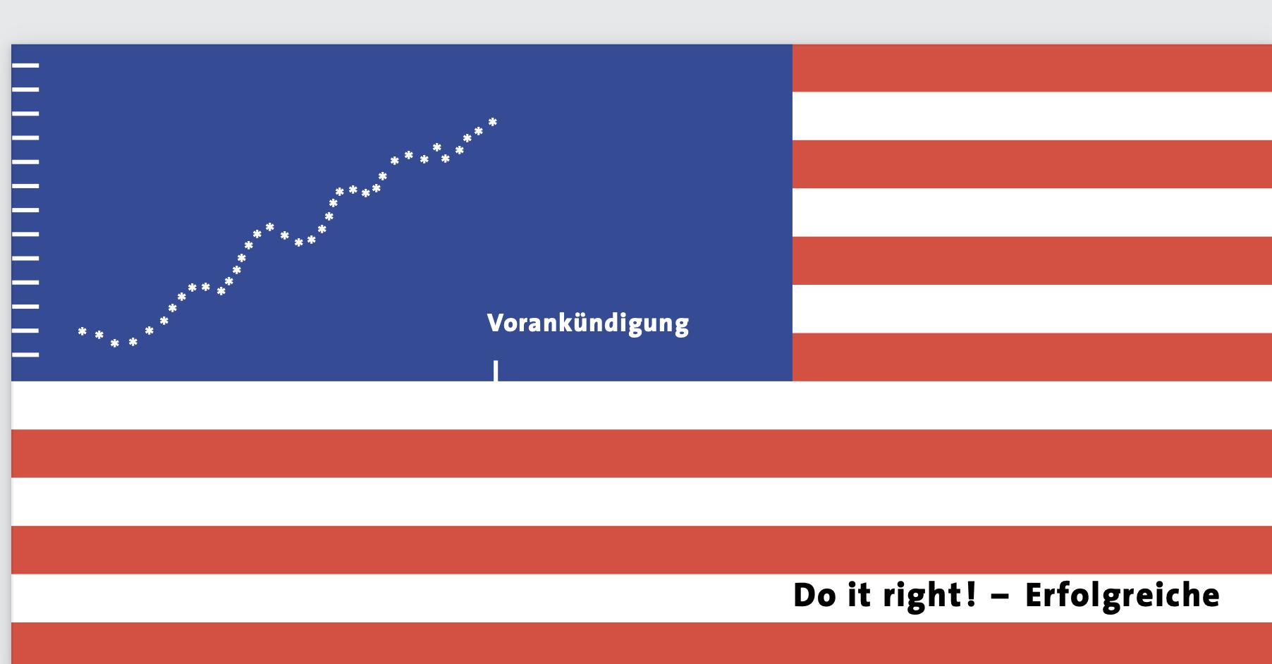 die US-Flagge abgeandelt